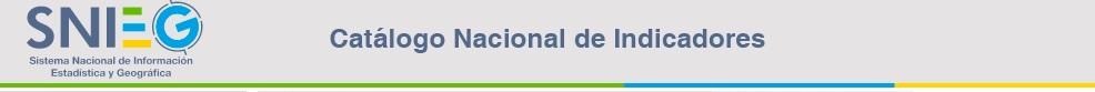 Catalogo Nacional de Indicadores